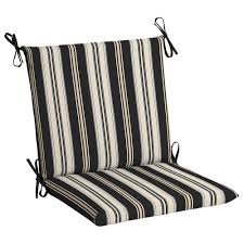 White Dining Chair Cushions Hton Bay Black Stripe Outdoor Dining Chair Cushion Tg0u527b