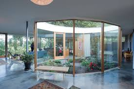 homes with interior courtyards courtyard glass modern house