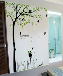 Wall Decor Stickers by Birds Tree Wall Decals For Rooms Wallstickery