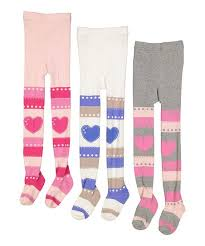 teehee pink purple stripes hearts tights set infant