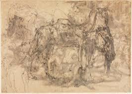 perino del vaga 1500 57 sketches of animals 1545 47 pen and