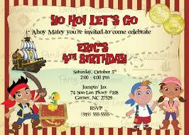jake neverland pirates birthday invitations u2013 gangcraft net