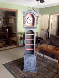 Antique Curio Cabinet With Clock Cute Grandfather Clock Repurpose Project Clock Was Just A Cabinet