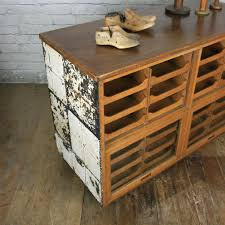 hand crafted vintage oak haberdashery retail shop counter