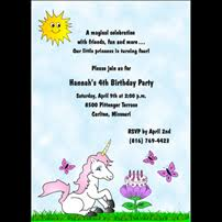 4th birthday party invitations