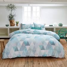 Schlafzimmer Hell Blau Bettwäsche Saba Baumwolle Blau 155x220 1x80x80