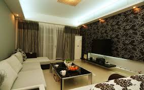 design ideas for living room walls or by modern living room brick