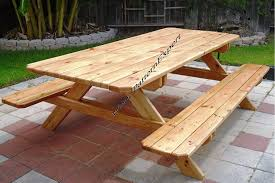 picnic table w benches paper plans so easy beginners look like
