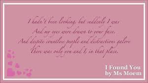 wedding poems i found you a wedding poem