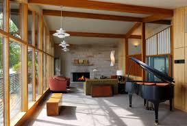 living room mid century modern eclectic living room wallpaper