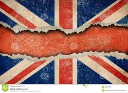 grunge british flag on ripped or torn paper royalty free stock