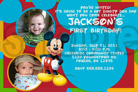 First Birthday Invitation Cards For Boys Mickey Mouse Birthday Invitations Ideas U2013 Bagvania Free Printable
