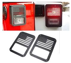 jeep american flag amazon com generic 2 x tail lamp tail light cover trim guards