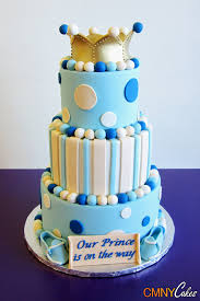 royalty themed baby shower prince theme three tier baby shower cake cmny cakes