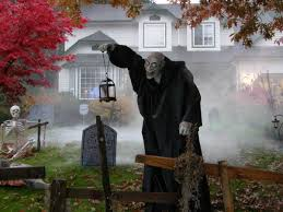 mesmerizing graveyard exterior halloween decorations exterior