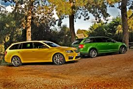 acid yellow jeep skoda octavia 2 0tdi cr vrs estate 5d green versus yellow parkers