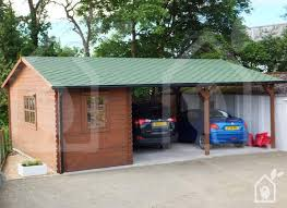 Attached Carports Wooden Carport A Shelter From The Rain And Snow Quick Garden