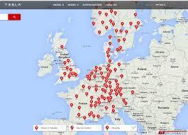 Supercharger Map The Gtspirit Tesla Model S Long Distance Review Gtspirit