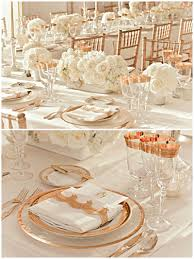 Pink And Gold Table Setting by Rose Gold Pale Coral Coral Wedding Colors Coral And Rose