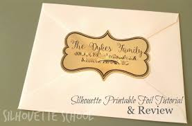 silhouette printable foil tutorial review and the benefit