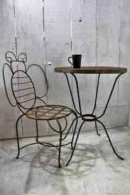 wrought iron bumblebee table metal patio furniture