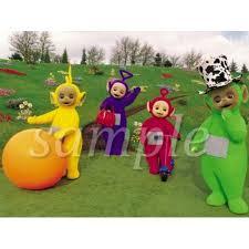 Teletubbie Halloween Costume 1 4 Sheet Teletubbies Edible Frosting Cake Topper Walmart