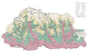 Himalayan Mountains Map Essence Of Himalayas Bhutan Footprints Travel