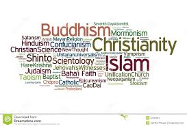 World Religions Map World Religions Stock Illustration Image Of Names Easter 23163664