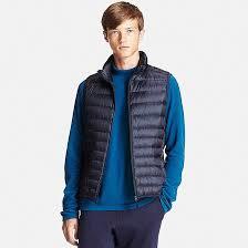 Light Blue Vest Men Ultra Light Down Vest Uniqlo Us