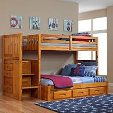 Bookcase Bunk Beds Amazon Com Discovery World Furniture Honey Mission Staircase