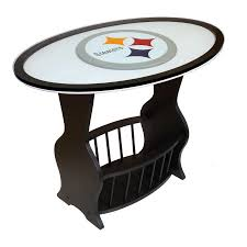 shop fan creations pittsburgh steelers black oval end table at