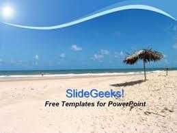 holidays summer on beach powerpoint template powerpoint themes