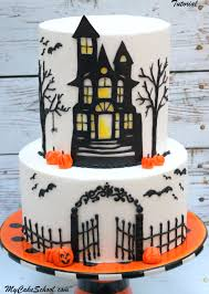Halloween Decorations For Cakes by How To Make A Haunted House Cake Cake Decorating Video My Cake