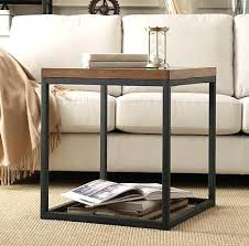 Diy Reclaimed Wood Side Table by Side Table Wood Metal Side Table Reclaimed Wood Metal Side Table