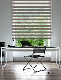 custom made shade translucent roller zebra blinds in beige