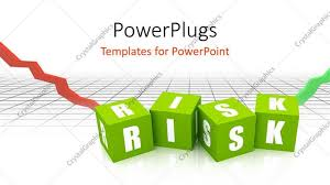 templates powerpoint crystalgraphics powerpoint template risk blocks in green color with financial graph