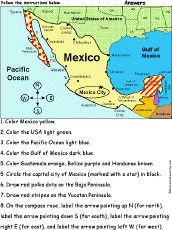 me a map of mexico mexico map zoomschool com