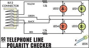 silicon chip online phone line polarity checker