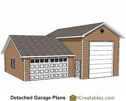 house plans with 2 separate garages 20x20 2 car 1 door garage plans garage plans pinterest