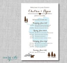 Wedding Itinerary For Guests This But With Our Lake In The Background Printable Digital File