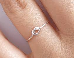 knot promise ring knot ring etsy
