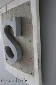 lettre decorative metal stéphanie bricole