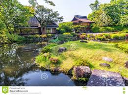 nara japan isuien garden japanese style garden stock photo