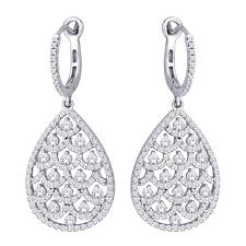 diamond dangle earrings 14k white gold 1 5 8 ct tw diamond dangle earrings earrings