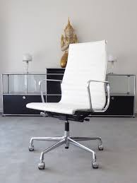 replica office chair ea 119 high backrest faux leather white