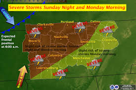 Tennessee Weather Map by The Weather Guy February 2011