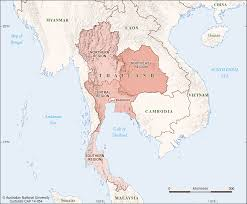Thailand World Map by Thailand Regions Cartogis Services Maps Online Anu