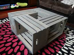 wood crate coffee table with flowers u2014 bitdigest design cool