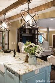 Lighting Kitchen Island Gorgeous Home Tour With Lauren Nicole Designs Globe Pendant
