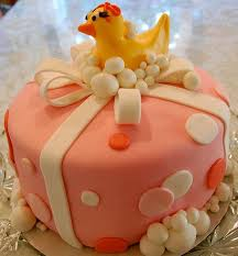 ducky pink baby shower cake jpg
